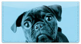Colorful Pug Checkbook Cover