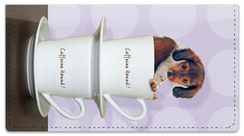 Pups in Cups Checkbook Cover