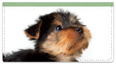 Yorkie Pup Checkbook Cover