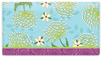 Mystical Garden Checkbook Cover