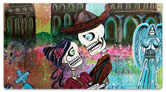 Day of the Dead Skull Checkbook Cover