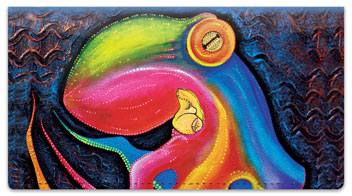 Sea Creature Checkbook Cover