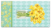 Narcissus Blooming Checkbook Cover