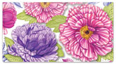 Patterned Peonies Checkbook Cover