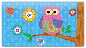 Cute Owl Checkbook Cover