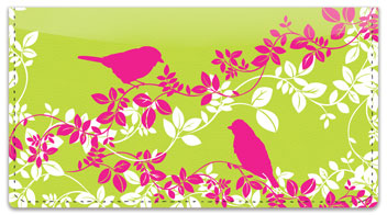 Bird on Branch Checkbook Cover