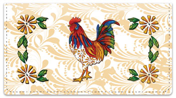 Embry Rooster Checkbook Cover