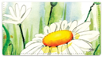 Daisy Field Checkbook Cover