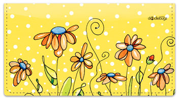 Orange Daisies Checkbook Cover