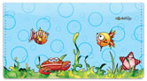 Wishy Fishy Friends Checkbook Cover