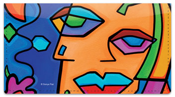 Cubist Gal Pal Checkbook Cover