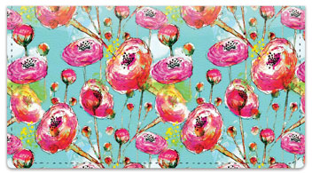 Breezy Blooms Checkbook Cover
