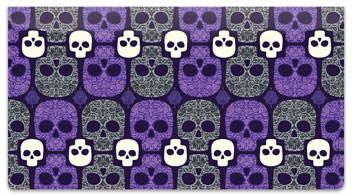 Damask Skull Checkbook Cover
