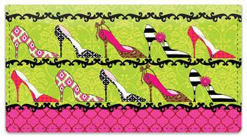 Terri Puma Shoe Lover Checkbook Cover