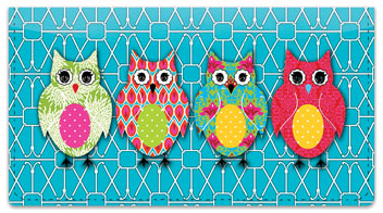 Puma Colorful Owls Checkbook Cover