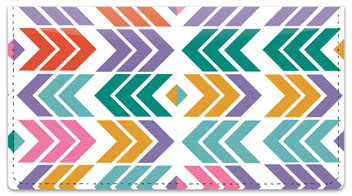 Chevron Geometrics Checkbook Cover