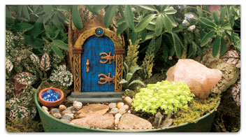 Miniature Fairy Garden Checkbook Cover