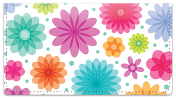Geo Floral Checkbook Cover