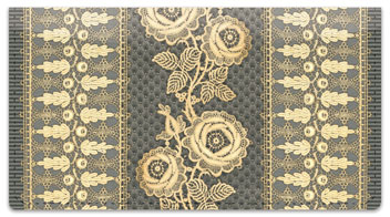 Lace Rose Checkbook Cover