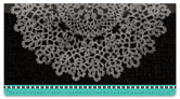 Large Doily Checkbook Cover