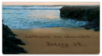 Quote Sand Scribbles Checkbook Cover