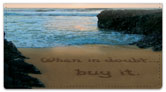 Quote Sand Scribbles Checkbook Covers