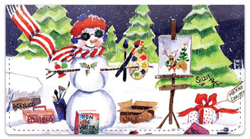 Snow Artist Checkbook Cover