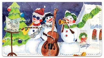 Snow Musician Checkbook Cover