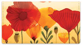 Wild Poppies Checkbook Cover