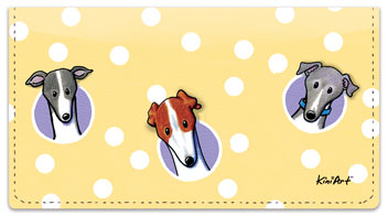 Greyhound Checkbook Cover