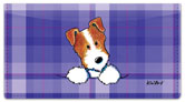 Jack Russell Terrier Checkbook Cover