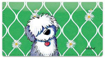 Old English Sheepdog Checkbook Cover