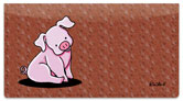 Pig Checkbook Cover