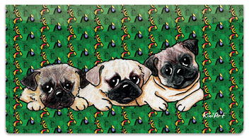 Pug Series Checkbook Cover