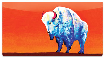 Bison Checkbook Cover
