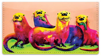 Otter Checkbook Cover