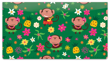 Hula Monkey Checkbook Cover