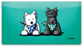 Terrier Friends 2 Checkbook Cover