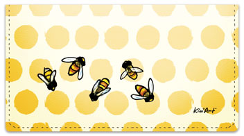 Save the Bees Checkbook Cover