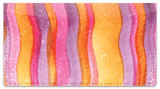 Painted Pattern Checkbook Cover