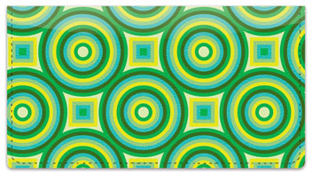 Concentric Circle Checkbook Cover