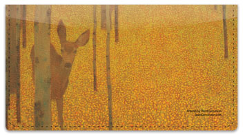 Grossmann Deer Checkbook Cover