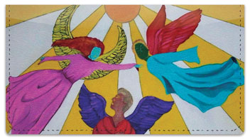 Angels Checkbook Cover