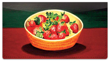 Strawberry Dish Checkbook Cover