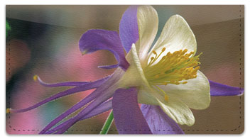 Columbine Flower Checkbook Cover