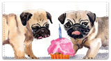 Pugs Checkbook Cover