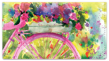 Spring Time Checkbook Cover