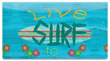 Barker Surfing Checkbook Cover