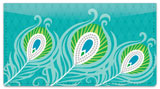 Peacock Feathers Checkbook Cover