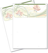 Floral Blank Check Stock